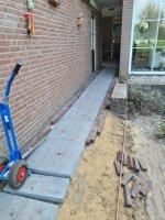 Aanleg achtertuin / bestrating Borkel en Schaft