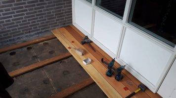 Houtwerk balkon vlonder Aalst