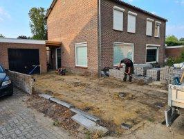 Aanleg voor en achtertuin Westerhoven